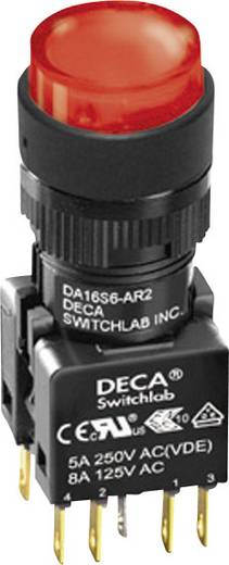 Nyomógomb 250 V/AC 5 A 1 x KI/(BE) DECA ADA16S6-MR1-B2GR IP65 Nyomó 1 db