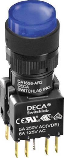 Nyomógomb 250 V/AC 5 A 1 x KI/(BE) DECA ADA16S6-MR1-B2JB IP65 Nyomó 1 db