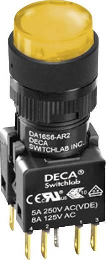Nyomógomb 250 V/AC 5 A 1 x KI/(BE) DECA ADA16S6-MR1-B2KO IP65 Nyomó 1 db