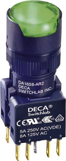 Nyomógomb 250 V/AC 5 A 2 x KI/(BE) DECA ADA16S6-MR2-A2GG IP65 Nyomó 1 db