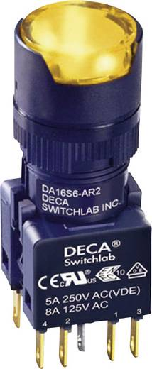 Nyomógomb 250 V/AC 5 A 1 x KI/(BE) DECA ADA16S6-MR2-B2CO IP65 Nyomó 1 db