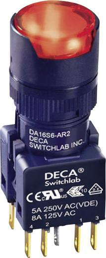 Nyomógomb 250 V/AC 5 A 1 x KI/(BE) DECA ADA16S6-MR2-B2KR IP65 Nyomó 1 db