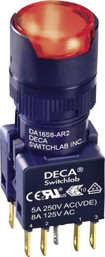 Nyomógomb 250 V/AC 5 A 2 x KI/(BE) DECA ADA16S6-MR2-A2KR IP65 Nyomó 1 db