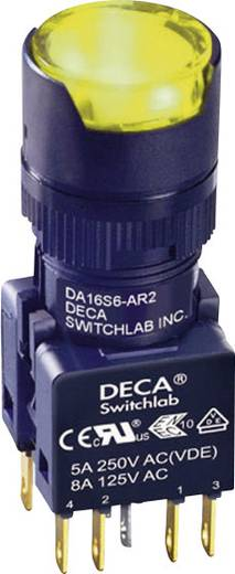 Nyomógomb 250 V/AC 5 A 2 x KI/(BE) DECA ADA16S6-MR2-A2KY IP65 Nyomó 1 db