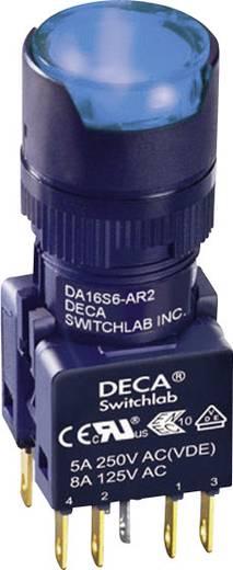 Nyomógomb 250 V/AC 5 A 1 x KI/(BE) DECA ADA16S6-MR2-B2KB IP65 Nyomó 1 db