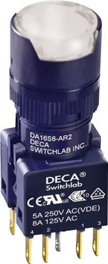 Nyomógomb 250 V/AC 5 A 1 x KI/(BE) DECA ADA16S6-MR2-B2KW IP65 Nyomó 1 db