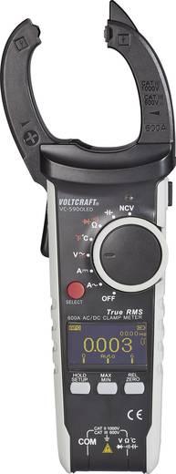 AC/DC árammérő True RMS lakatfogó műszer, multiméter OLED kijelzővel 750V/AC 1000V/DC 600A AC/DC Voltcraft VC-590 OLED