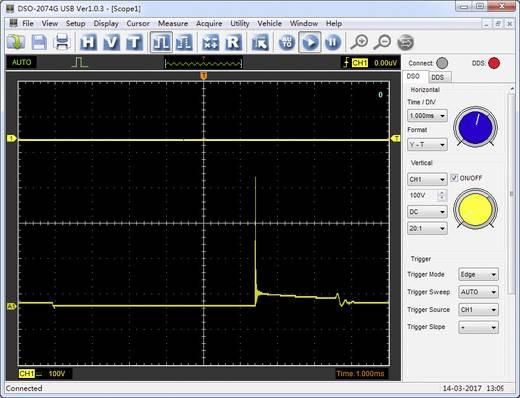 VOLTCRAFT DSO-2074G USB oszcilloszkóp, 4-csatornás oszcilloszkóp előtét, USB szkóp Sávszélesség 70 MHz