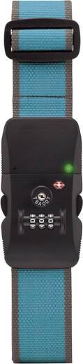 Bluetoothos riasztós bőröndzár, TSA K200 türkiz