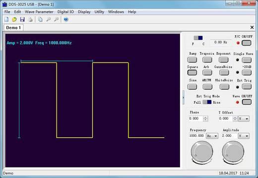 USB-s DDS függvénygenerátor előtét, 50 MHz, 200 MSa/s, bitminta generátor, 50 MHz-es frekvenciamérő VOLTCRAFT DDS-3025
