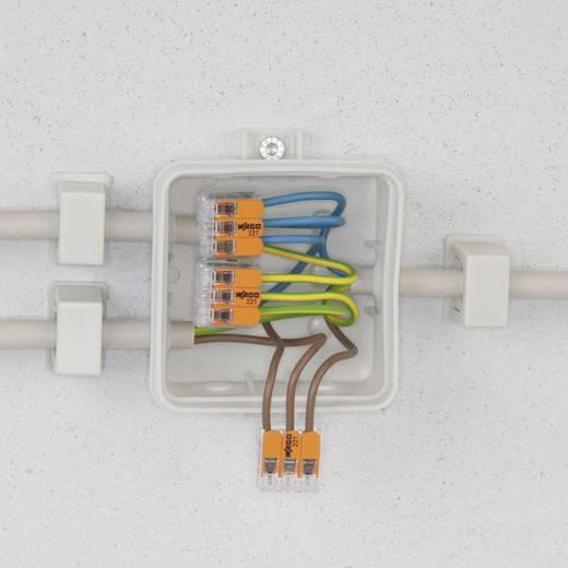 Vezetékösszekötő hajlékony: 0.14-4 mm² merev: 0.2-4 mm² Pólusszám: 2 WAGO 221-412 100 db Átlátszó, Naran