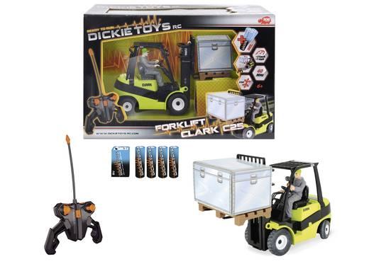 Modellautó távirányítóval, Dickie Toys elektromos Mercedes Benz Actros és Clark emelővillás targonca C25