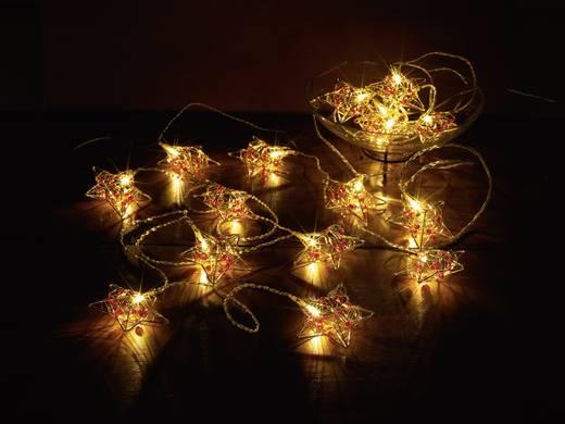 LED-es beltéri fényfüzér, színes csillagokkal, 16 LED Melegfehér 9.5 m Polarlite LDC-02-005