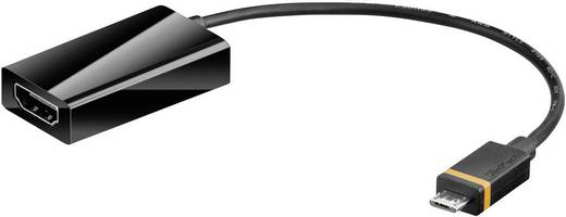 HDMI Átalakító [1x SlimPort dugó - 1x HDMI alj] Fekete Goobay