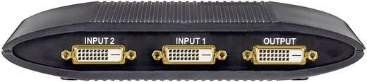 DVI switch, 2 portos, fekete, Goobay