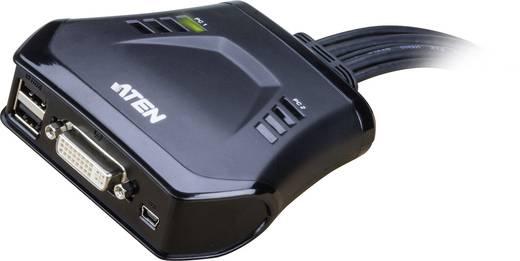 2 portos USB-s KVM switch, (billentyűzet, video, egér) elosztó, DVI kimenettel Aten CS22D