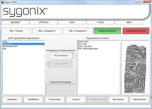 Ujjlenyomatos beléptető rendszer, sygonix FP530