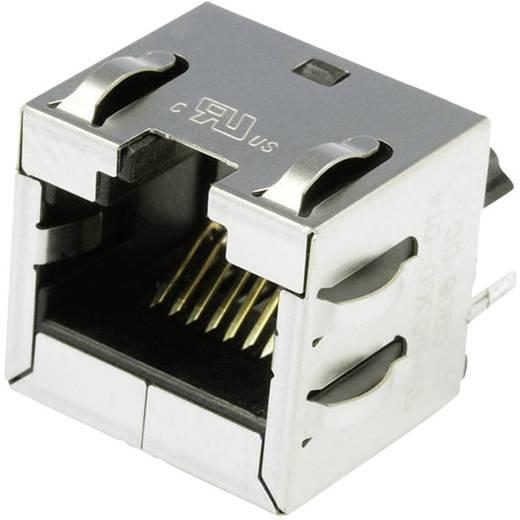Modular beépíthető alj függőleges árnyékolt Cat.6a alj, beépíthető függőleges Pólus: 8P8C SS-60300-014 nikkelezett