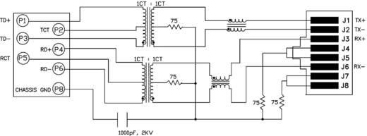 RJ45 beépíthető csatlakozó aljzat, 8P8C, vízszintes, Cat5e, 10/100Base-TX, BEL Stewart Connectors SI-50170-F