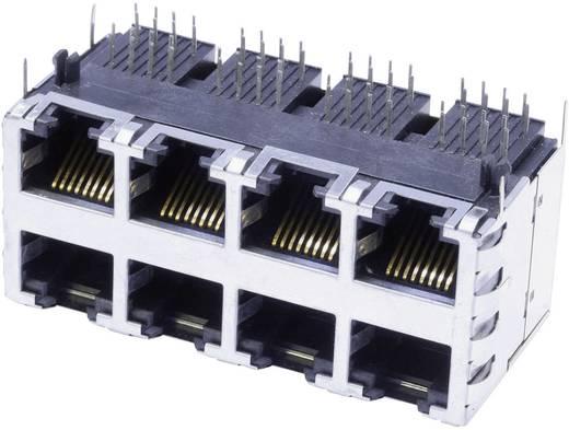 Moduláris beépíthető alj, Doppelstock 4x2 Port árnyékolt Cat.5 alj, Pólus: 8P8C SS-73100-073 nikkelezett,