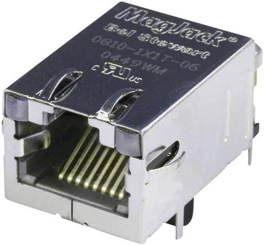 MagJack 10/100Base-TX 4 beépíthető csatlakozó aljzat, 8P8C, vízszintes, BEL Stewart Connectors 08B0-1X1T-36-F