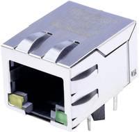 MagJack 10/100Base-TX 4 átvivő LED-ekkel, beépíthető Pólus: 8P8C nikkelezett, BEL Stewart Connectors SI-60062-F (SI-60062-F) BEL Stewart Connectors