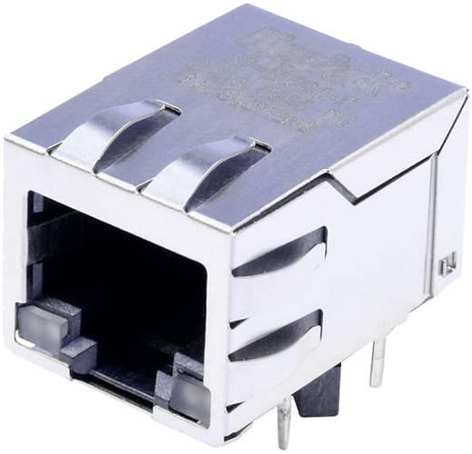 MagJack 10/100Base-TX 4 beépíthető csatlakozó aljzat, 8P8C, vízszintes, BEL Stewart Connectors SI-60024-F