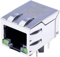 MagJack 10/100Base-TX 4 átvivő LED-ekkel, beépíthető Pólus: 8P8C nikkelezett, BEL Stewart Connectors SI-60118-F (SI-60118-F) BEL Stewart Connectors