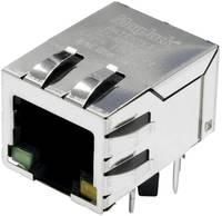 MagJack Gigabit Ethernet 8 átvivő LED-el, Tab down alj, beépíthető, vízszintes Gigabit Ethernet Pólus: 8P8C nikkelezett (SI-61001-F) BEL Stewart Connectors