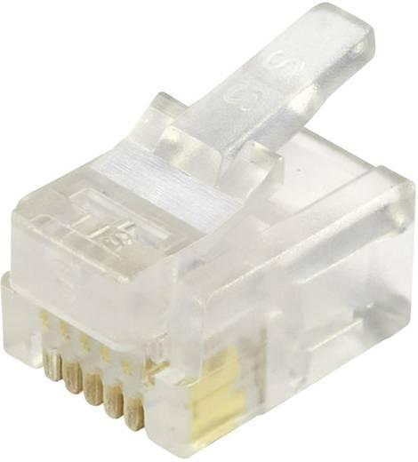 Modular-Stecker ungeschirmt für Rundkabel Stecker, gerade Pole: 6P6C 937-SP-3066R Glasklar BEL Stewart Connectors Inhal