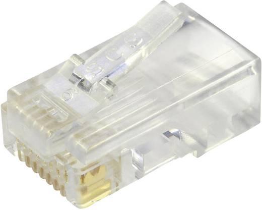 Modular-Stecker ungeschirmt für Flachkabel Stecker, gerade Pole: 8P8C 940-SP-3088 Glasklar BEL Stewart Connectors Inhal