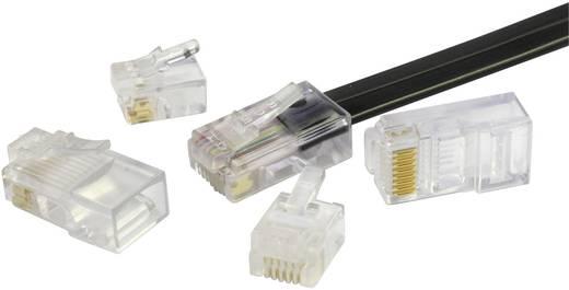 RJ12 moduláris csatlakozó dugó, egyenes, 6P6C, BEL Stewart Connectors 940-SP-3066