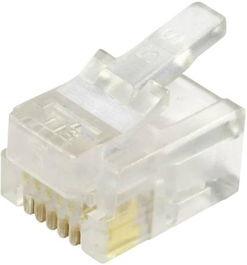 Modular-Stecker ungeschirmt für Flachkabel Stecker, gerade Pole: 6P6C 940-SP-3066 Glasklar BEL Stewart Connectors Inhal