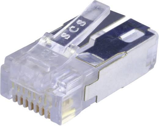 Moduláris dugó árnyékolt Cat.5e dugó, egyenes Pólus: 8P8C 943 SP 370808SM2 FS B1000 átlátszó BEL Stewart Connectors I