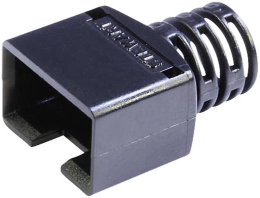 RJ45, CAT5 kábel árnyékoló törésgátlóval, 8P8C típusokhoz, fekete 361010-SRX-260-A108