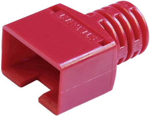 RJ45, CAT5 kábel árnyékoló törésgátlóval, 8P8C típusokhoz, piros 361010-SRX-260-A257