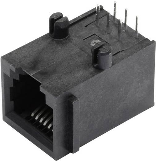 Moduláris beépíthető alj, árnyékolás nélkül, peremmel, Pólus: 6P6C SS64600-015F fekete BEL Stewart Conn