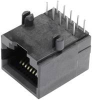 RJ48 beépíthető csatlakozó aljzat, 10P10C, vízszintes, BEL Stewart Connectors SS64100-018F (SS64100-018F) BEL Stewart Connectors