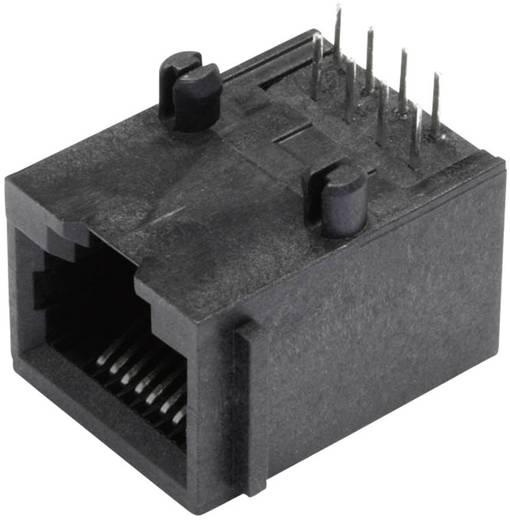 Moduláris beépíthető alj, árnyékolás nélkül, peremmel, Pólus: 8P8C SS64800-005F fekete BEL Stewart Conn