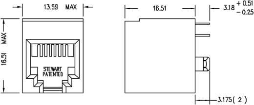 Moduláris beépíthető alj, függőleges, árnyékolás nélkül, Pólus: 6P4C SS65600-002F fekete BEL Stewart Connector