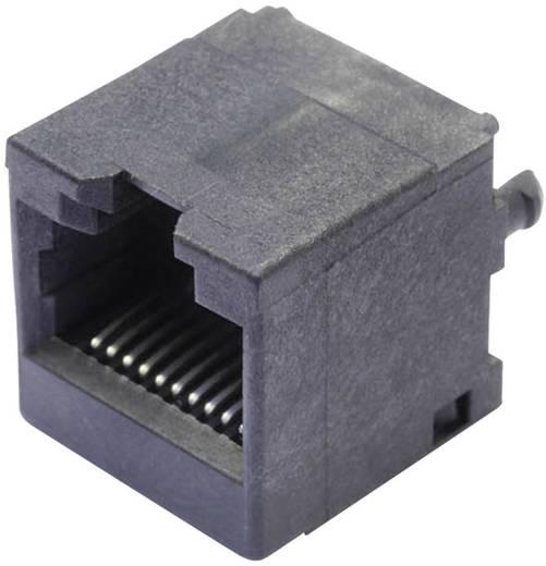 Moduláris beépíthető alj, függőleges, árnyékolás nélkül, Pólus: 10P10C SS65100-031F fekete BEL Stewart Connect