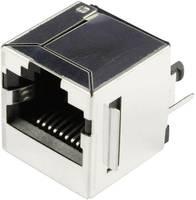 RJ45 beépíthető csatlakozó aljzat, 10P8C, függőleges, BEL Stewart Connectors SS-650810S-A-FLS (SS-650810S-A-FLS) BEL Stewart Connectors