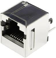 RJ45 beépíthető csatlakozó aljzat, 10P8C, függőleges, BEL Stewart Connectors SS65100-022F (SS65100-022F) BEL Stewart Connectors