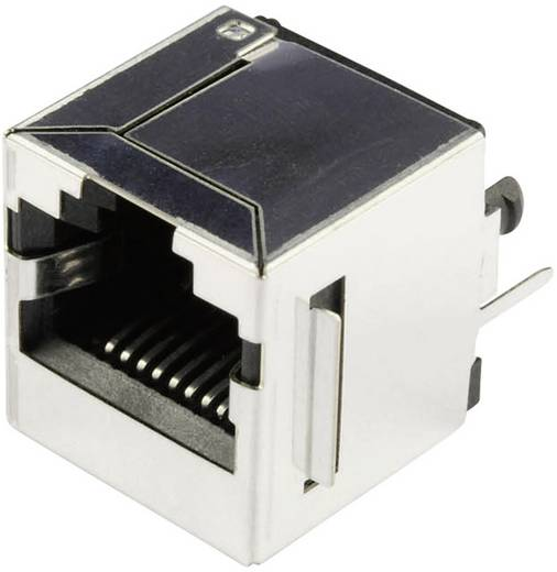 RJ45 beépíthető csatlakozó aljzat, 10P8C, függőleges, BEL Stewart Connectors SS65100-022F
