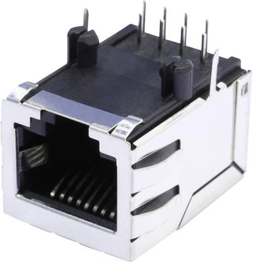 RJ45 beépíthető csatlakozó aljzat, 8P8C, vízszintes, BEL Stewart Connectors SS64800-056F