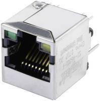 MagJack 10/100Base-TX 4 beépíthető csatlakozó aljzat, 8P8C, függőleges, BEL Stewart Connectors SI-46001-F (SI-46001-F) BEL Stewart Connectors