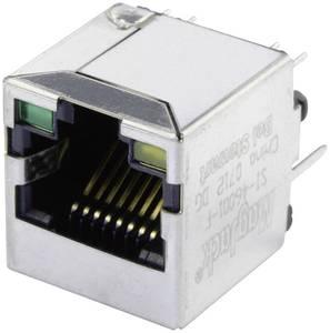 MagJack 10/100Base-TX 4 beépíthető csatlakozó aljzat, 8P8C, függőleges, BEL Stewart Connectors SI-46001-F BEL Stewart Connectors