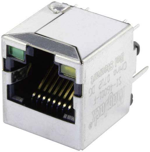MagJack 10/100Base-TX 4 beépíthető csatlakozó aljzat, 8P8C, függőleges, BEL Stewart Connectors SI-46001-F