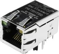 MagJack 10/100Base-TX PoE 4 átvivő LED-ekkel alj, beépíthető vízszintes PoE Pólus: 8P8C SI-52008-F nikkelezett, fém B (SI-52008-F) BEL Stewart Connectors