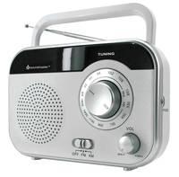 Táskarádió, asztali rádió UKW, MW fehér színű, Soundmaster TR410WS soundmaster